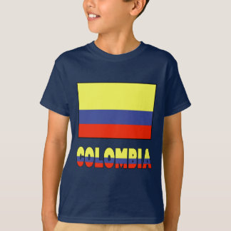 Columbia Flag & Name Border T-Shirt