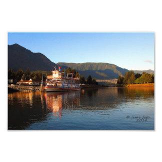 Columbia Gorge Stern Wheeler. Cascade Locks OR Photo Print