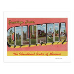 Columbia, Missouri - Large Letter Scenes Post Cards