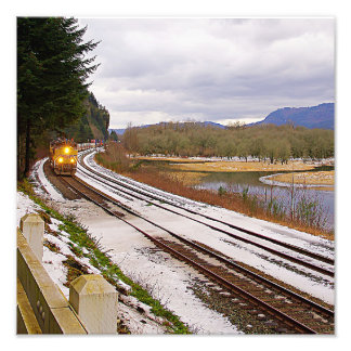Columbia River Gorge Rails Photograph