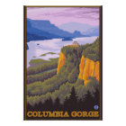 Columbia River Gorge Scene with Crown Point Poster