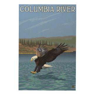 Columbia River, WashingtonEagle Diving Wood Wall Decor