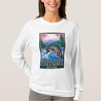 Columbia River, WashingtonFly Fishing Scene T-Shirt