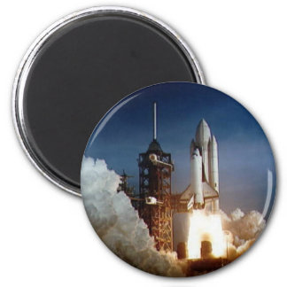 Columbia STS-1 Mission 6 Cm Round Magnet