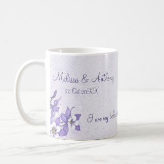 Columbine Bouquet Bride & Groom Mug