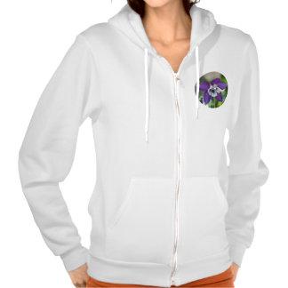 Columbine flower photo sweatshirt