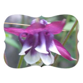Columbine Flowers 13 Cm X 18 Cm Invitation Card