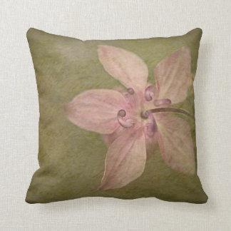 Columbine Pink Throw Pillow