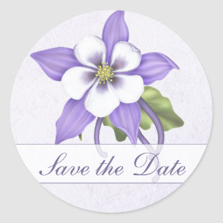 Columbine Save the Date Envelope Sticker - Custom