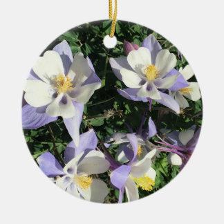 Columbine wildflowers christmas ornament