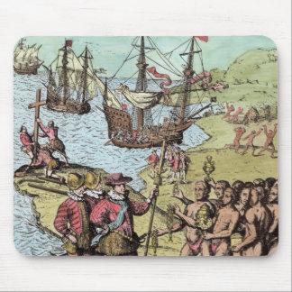 Columbus at Hispaniola Mouse Mat