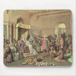 Columbus at the Royal Court of Spain in Barcelona Mouse Mat