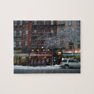 Columbus Avenue Upper West Side New York Snow NYC Jigsaw Puzzle