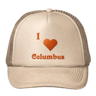 Columbus -- Burnt Orange Mesh Hats