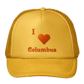 Columbus -- Burnt Orange Trucker Hats