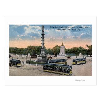 Columbus Circle & 8th Ave. Postcard