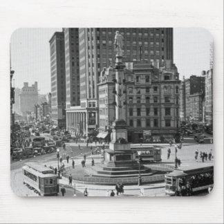 Columbus Circle Vintage Glass Slide Mouse Pad