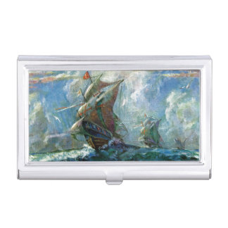 Columbus Day Business Card Holder