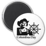 Columbus Day Refrigerator Magnet