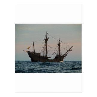 Columbus Era Ship Postcard