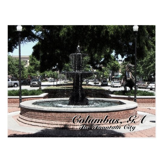 Columbus, GA The Fountain City Postcard