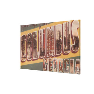 Columbus, Georgia - Large Letter Scenes 2 Canvas Print