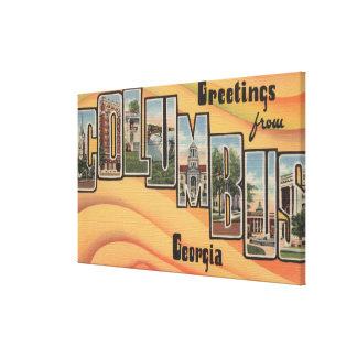 Columbus, Georgia - Large Letter Scenes Canvas Print