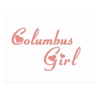 Columbus Girl tee shirts Postcards