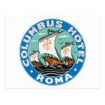 Columbus Hotel, Roma Postcard