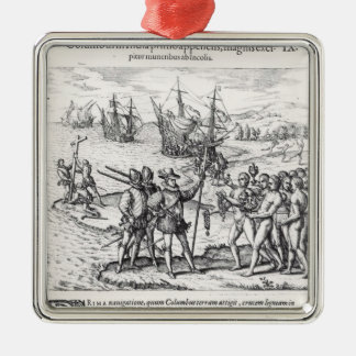 Columbus in What Was First Called India Christmas Ornament