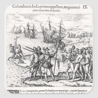 Columbus in What Was First Called India Square Sticker
