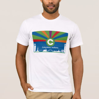 Columbus Indiana Flag T-shirt