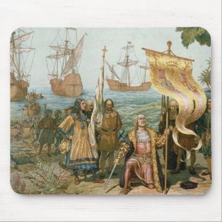 Columbus Landing in the Americas Mouse Mat