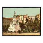 Columbus Monument, Genoa, Italy vintage Photochrom