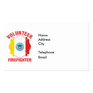 Columbus, OH Flag Volunteer Firefighter Cross Pack Of Standard Business Cards