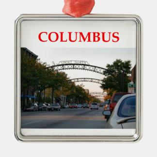 Columbus Ohio Christmas Ornament