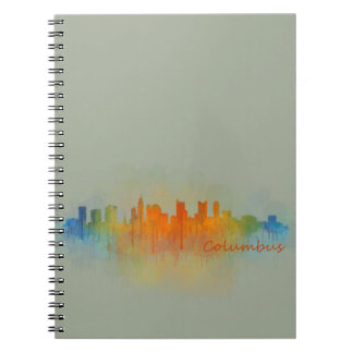 Columbus Ohio, City Skyline, v3 Spiral Notebook