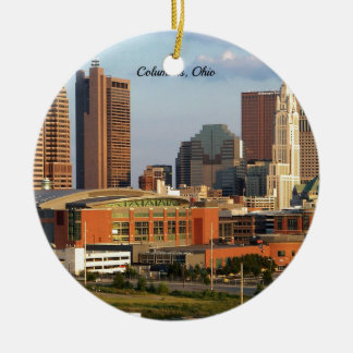 Columbus, Ohio cityscape Christmas Ornament