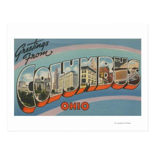 Columbus, Ohio - Large Letter Scenes 2 Postcard
