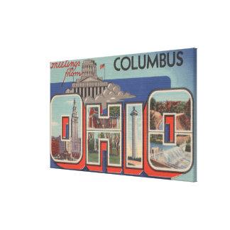 Columbus, Ohio - Large Letter Scenes Canvas Print