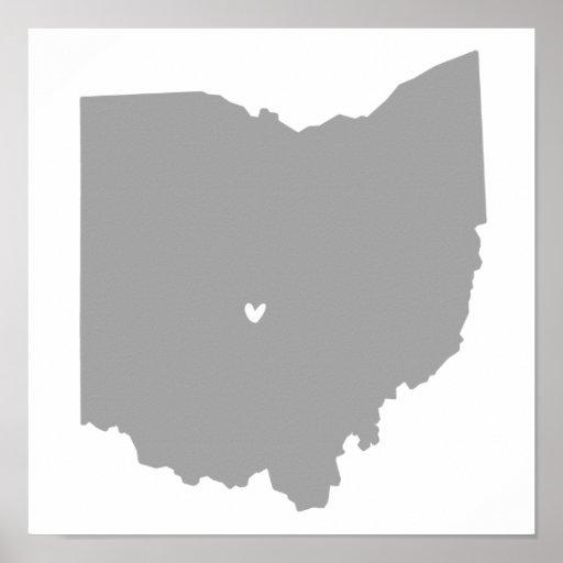 Columbus, Ohio Love Poster