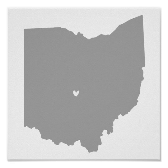 Columbus, Ohio Love Poster