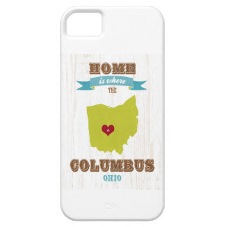 Columbus, Ohio Map – Home Is Where The Heart Is iPhone 5 Cases