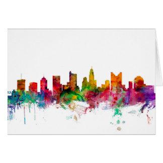 Columbus Ohio Skyline Card