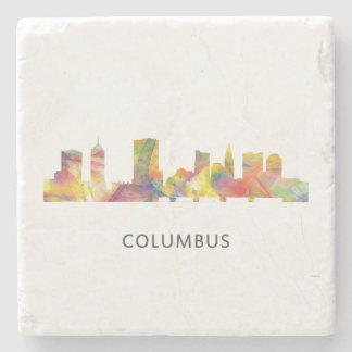 COLUMBUS, OHIO SKYLINE WB1 - STONE BEVERAGE COASTER