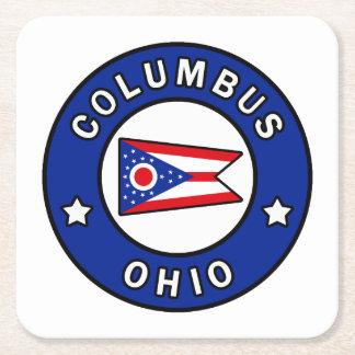 Columbus Ohio Square Paper Coaster
