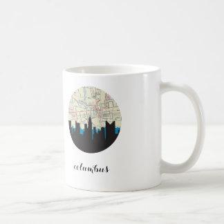 Columbus skyline | Columbus, Ohio vintage map Basic White Mug