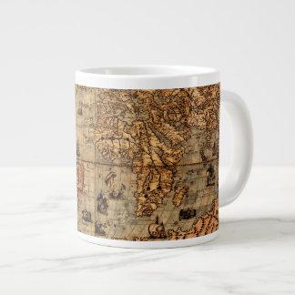 Columbus's Old World Map Jumbo Soup Mug Jumbo Mug