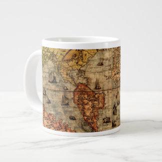 Columbus's Old World Map Jumbo Soup Mug Extra Large Mug