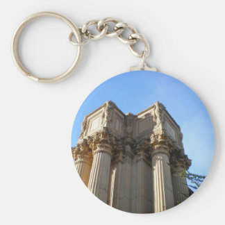 column at Palace of Fine Arts, SF, CA Basic Round Button Key Ring